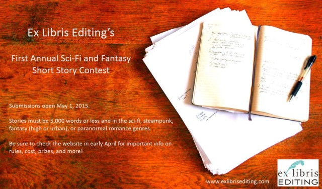 Ex Libris Editing Short Story Contest Teaser Flyer